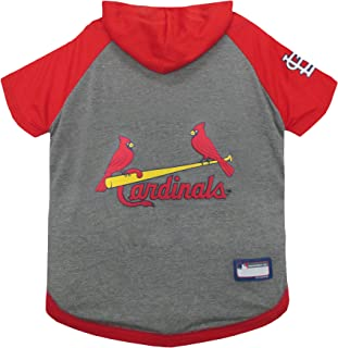 Pets First MLB Hoodie for Dogs & Cats - Saint Louis Cardinals Dog Hooded T-Shirt, Small. - MLB Team Color Hoody (SLC-4044-SM)