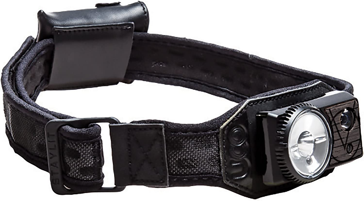 UCO Vapor 300 Lumen Rechargeable LED Headlamp with Variable Brightness Dial Control and Adjustable Strap, Black Mesh