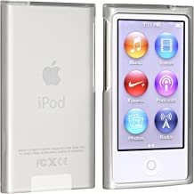 Insten Soft TPU Rubber Skin Case Cover Compatible with Apple iPod Nano 7th Generation 7 Gen, Frost Clear White