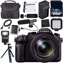 Panasonic Lumix DMC-FZ2500 Digital Camera (International Model) + Lithium Ion Battery + Charger + 64GB Memory Card + Tripod + Flash + Condenser Mic Bundle