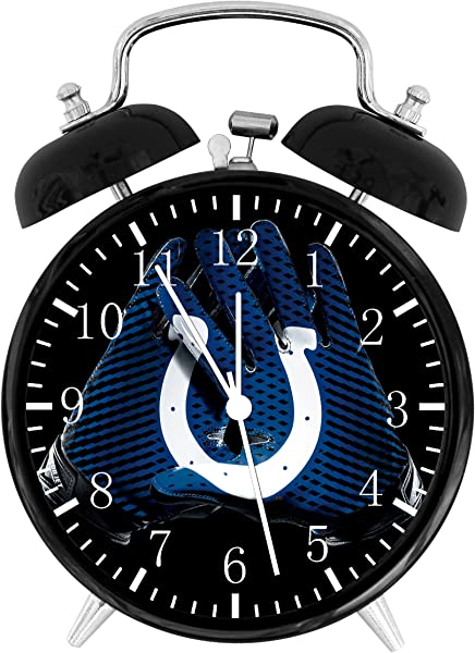 Colts Twin Bells Alarm Desk Clock 4 Home Office Decor F128 Nice For Gifts
