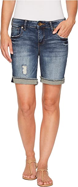 KUT from the Kloth - Catherine Boyfriend Shorts in Actualize/Dark Stone Base Wash