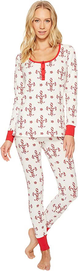 BedHead - Long Sleeve Stretch Knit Henley Pajama Set