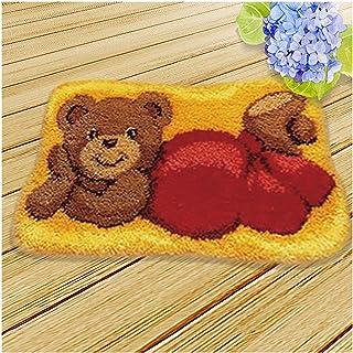 Kits De Crochet De Loquet DIY pour Débutants, Artisanat De Fil pour Enfants, Tapis avec Crochet, Arts Et Artisanat pour Ad...