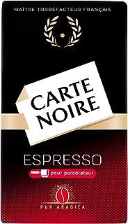 Carte Noire Espresso N°9, Café Torréfié Moulu Intense, Pur Arabica, Paquet de 250 g, lot de 12x250g
