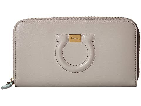 Salvatore Ferragamo Leather Zip Around Wallet