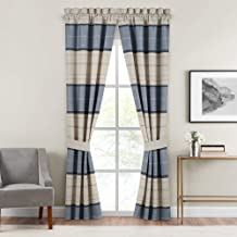 Croscill Silas Curtain Panel, 82x84, Blue