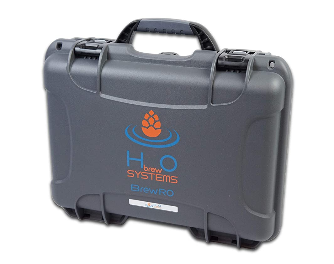 HBrewO Portable Reverse Osmosis, 2000 Gallon, 4 Stage RO Purification System with 10 Micron Carbon Filter (City Water)
