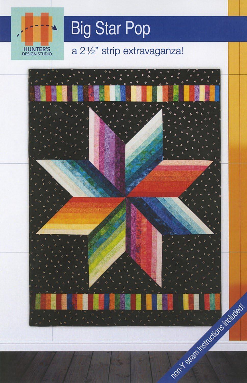 HUNTER San Antonio Mall Big Star Pop Quilt Be super welcome Pattern HDS034 Design Studio