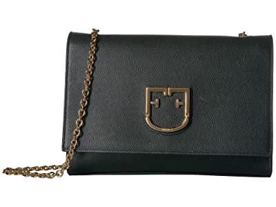 Furla Viva Small Pochette (Onyx) Cross Body Handbags