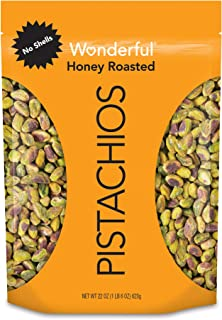 Wonderful Pistachios, No Shells Honey Roasted, 22 Ounce Resealable Pouch