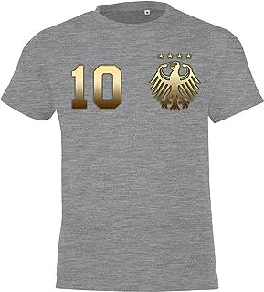 Camiseta para niños del Mundial de Alemania, Camiseta Estampada por Ambos Lados, con Nombre y número