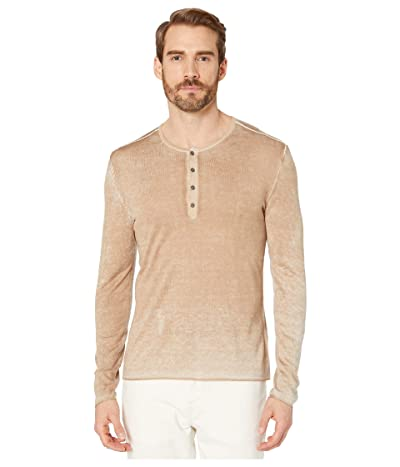 John Varvatos Collection Reverse Printed Henley Y902V4 (Cork) Men