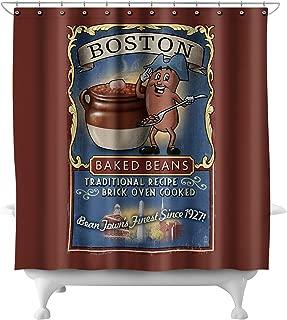 Boston, Massachusetts - Baked Beans Vintage Sign (71x74 Polyester Shower Curtain)