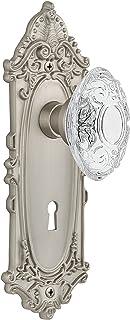 "(satinnickel, 2-3/8"") - Nostalgic Warehouse Victorian Privacy Door Knob with Victorian Plate"