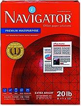 Navigator NMP1120 Premium Multipurpose Paper, 97 Brightness, 20lb, 8-1/2x11, White (Case of 5000 Sheets)