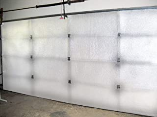 NASA TECH White Reflective Foam Core 2 Car Garage Door Insulation Kit 18FT (WIDE) x 8FT (HIGH) R Value 8.0 Made in USA New...