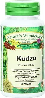 Nature's Wonderland Kudzu Root Herbal Supplement Capsules, 575 mg, 60 Count Bottle