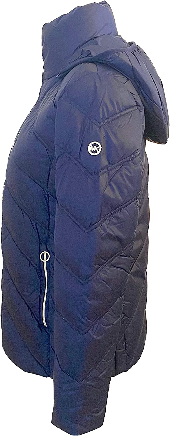 Michael Michael Kors Womens Packable Quilted Chevron Puffer Down Jacket