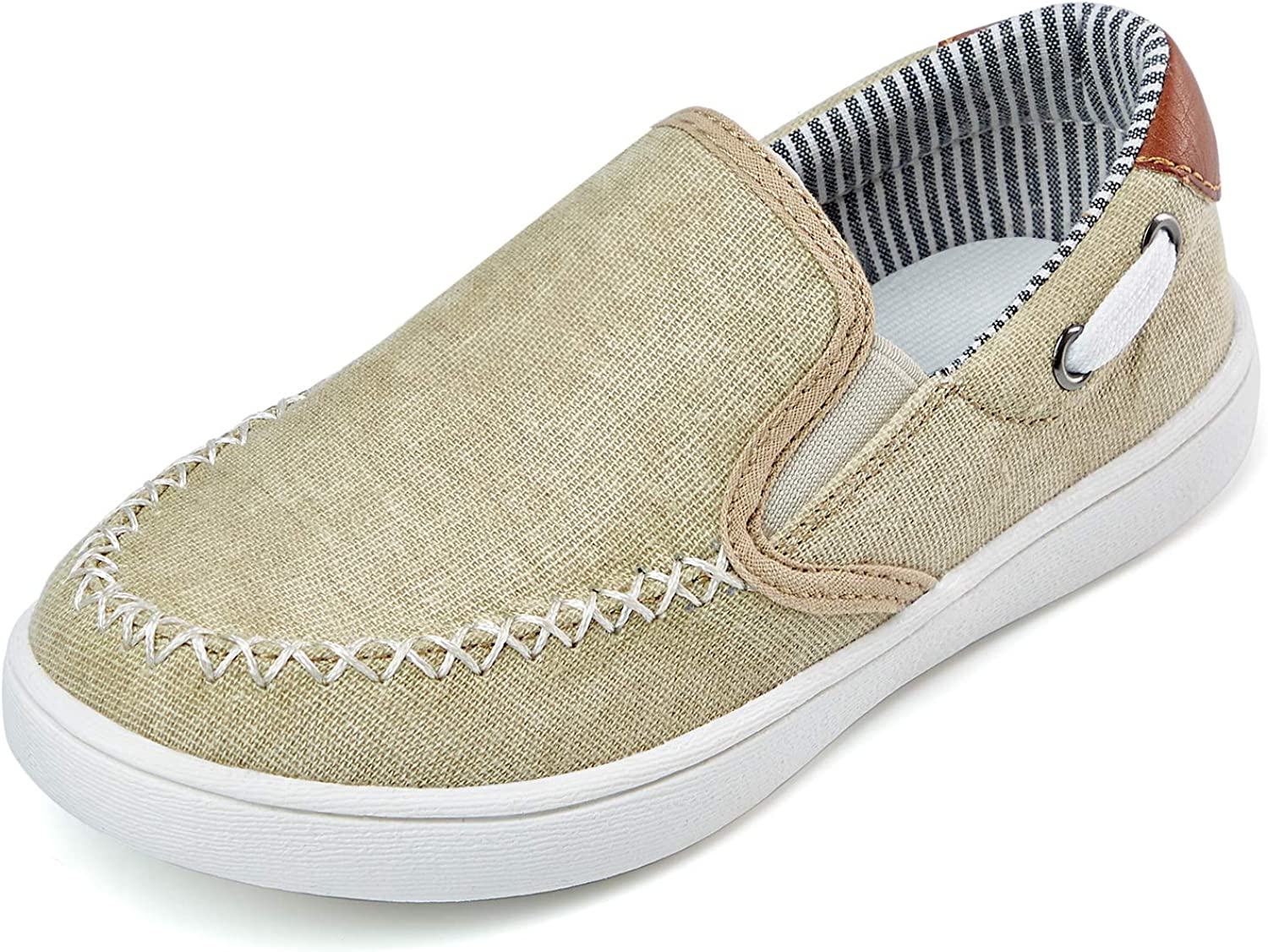 ZHILETAO Boys Casual Boat Shoes Girls Slip-on Loafer Kid's Classic Slip On Sneaker on Athletic Party School Daily Life(Toddler/Little Kid)