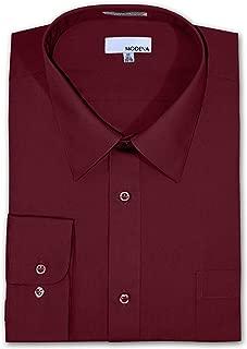 Big and Tall Poplin Dress Shirt - Burgandy