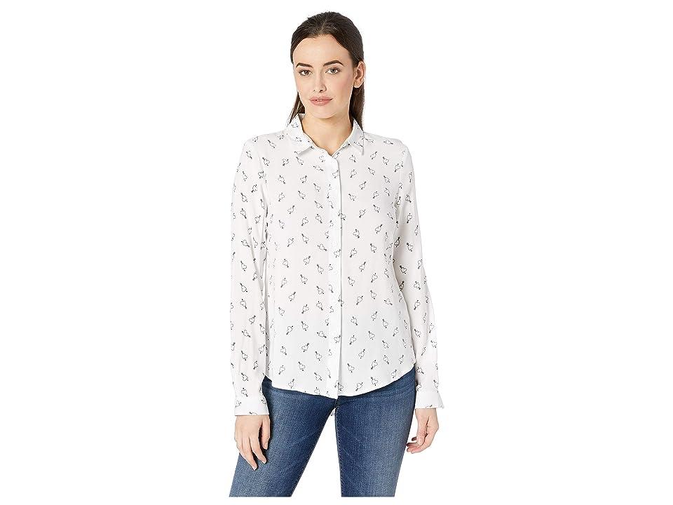 Per Se Long Sleeve Button Down Shirt (Arrow Heart) Women's Clothing