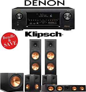 Klipsch RP-280F 5.1-Ch Reference Premiere Home Theater System with Denon AVR-X4400H 9.2-Channel 4K Network AV Receiver