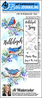 Art Impressions Bible Journaling Watercolor Rubber Stamps-on The Sparrow
