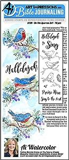 طوابع مطاطية بألوان مائية على The Sparrow من Art Impressions