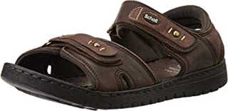 Scholl Men's Sung Leather Athletic and Outdoor Sandals