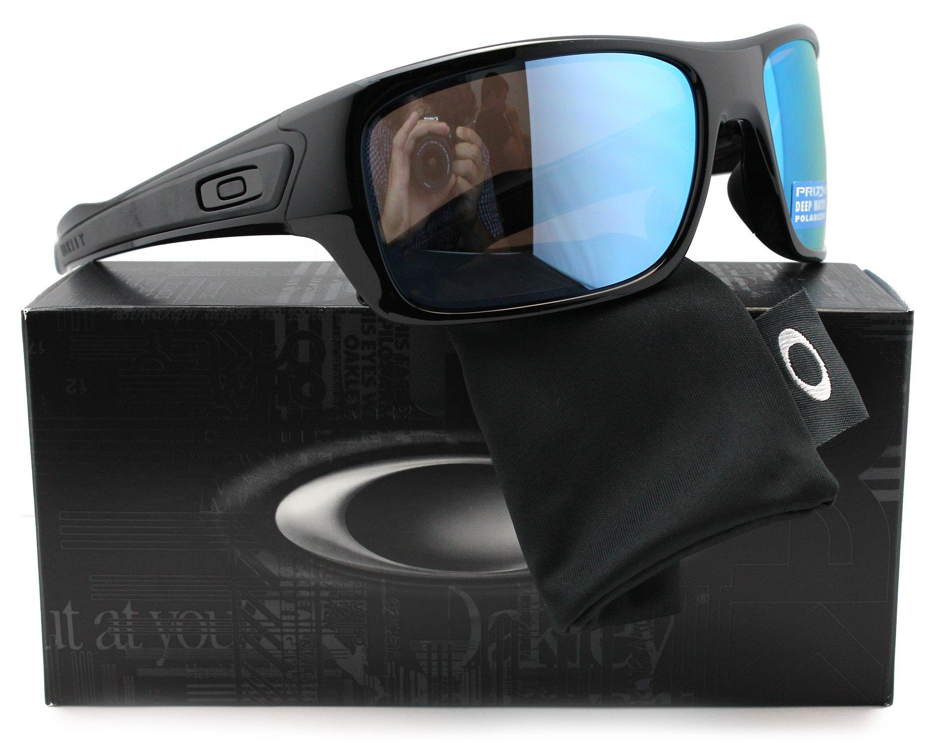 Oakley OO9263-14 Turbine Polarized Sunglasses Black w/Blue Mirror OO9263 14 65mm Authentic