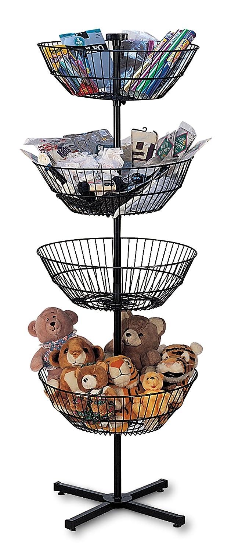Cheap 4-Basket Spinner Rack Popular popular Dump Bin and