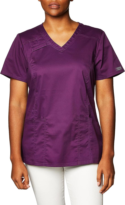 Cherokee Workwear Scrubs Premium Core STRETCH V-Neck Top w/ Back Pocket