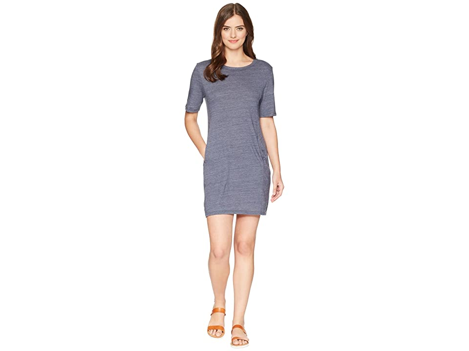Alternative Eco Jersey Pocket T-Shirt Dress (Eco True Navy) Women