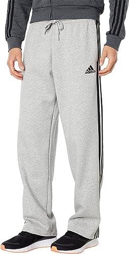 Essentials 3-Stripes Fleece Open Hem Pants