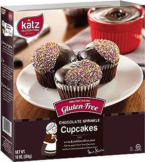 Katz Gluten Free Chocolate Sprinkle Cupcakes   Dairy Free, Nut Free, Gluten Free   Kosher (1 Pack of 4 Cupcakes, 10 Ounce)