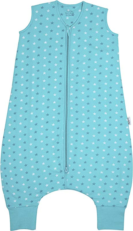 Slumbersafe Summer Sleeping Bag With Feet 2 5 Tog Simply Teal Stars 24 36 Months