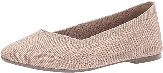 Women's Cleo-Skokie-Metallic Engineered Knit Skimmer Ballet Flat