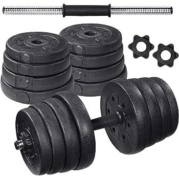 vidaXL Set de Pesas 2 Mancuernas 30kg Entrenamiento Fuerza Fitness Musculación: Amazon.es: Bricolaje y herramientas