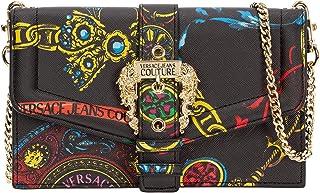 Versace Portafoglio con catena Jeans Couture1 con stampa Regalia Baroque multicolor