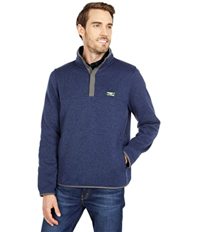 L.L.Bean Sweater Fleece Pullover (Bright Navy) Men