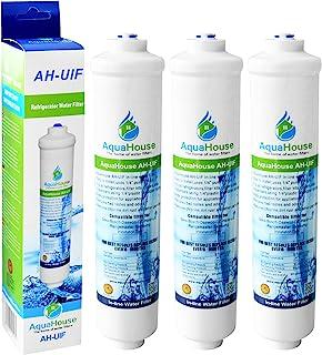 3x AquaHouse AH-UIF Compatible Filtre à eau universel pour réfrigérateur Samsung LG Daewoo Rangemaster Beko Haier etc Réfr...