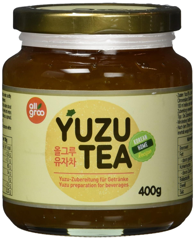 Allgroo Yuzu Tee — Yuzu Zubereitung für Tee oder als Brotaufstrich, vegan  und glutenfrei 12 x 12 g