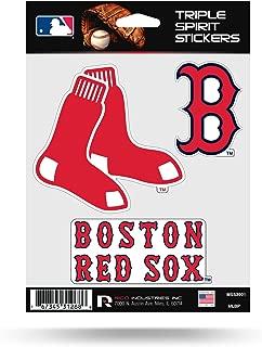 Rico Industries Boston Red Sox Triple Sticker Multi Decal Spirit Sheet Auto Home Baseball