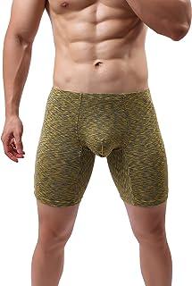MAKEIIT Men's Underwear Cotton Boxer Briefs Breathable Bulge Pouch Low Rise Elastic
