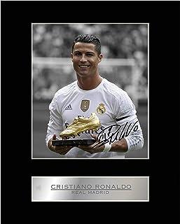 Foto firmada de Cristiano Ronaldo del Real Madrid enmarcada