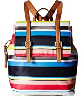 Tommy Hilfiger - Julia Stripe Flap Backpack