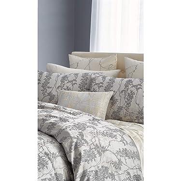 Michael Aram Wisteria Pillow Sham, Standard Size 20W x 26L, Grey