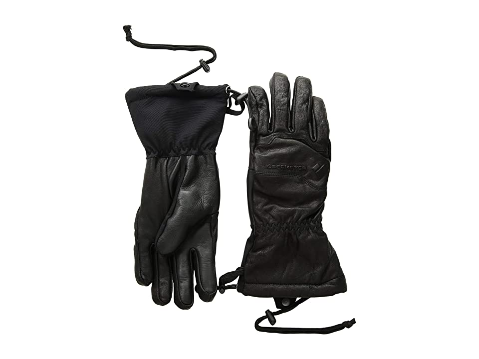 Obermeyer Solstice Leather Gloves (Black) Over-Mits Gloves