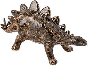 Stegosaurus Dinosaur Shaped Ceramic Stoneware Hand Painted Coin Bank